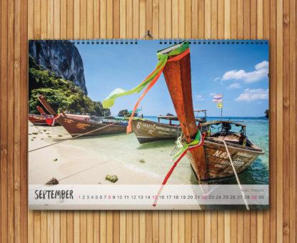 Monatsansicht-Wandkalender-A3-Reisen