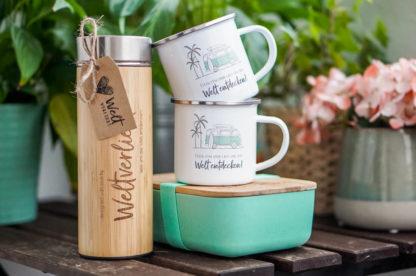 weltverliebt-bundle-bambusflasche-emailletasse-lunchbox